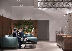 Office interior designdesigner: S.Gotvyansky M. Commercial Interior Design, Office Interior Design, Commercial Interiors, Office Interiors, Office Designs, Reception Desk Design, Reception Table, Office Plan, Showroom Design