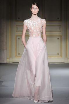 pants beneath sheer skirt   Georges Hobeika Haute Couture Spring/Summer 2013: splendidi ricami ed ...