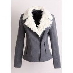 $20.18 Long Sleeves Color Block Zipper Worsted ...