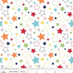 Another idea for the bugaboo upholstery Riley Blake Designs - Cotton Stars - Stars in Rainbow