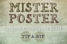 Mr Poster Font by Frisk Shop on Creative Market