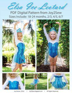 Elsa Frozen Ice Leotard PDF Pattern  Pattern Sizes by joy2sew, $8.50