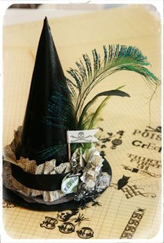Witch Hat can add some details to a store bought basic hat for costume