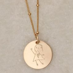 Erica Sara Designs Work of Art Custom Necklace: shrink your child's favorite artwork into wearable jewelry!