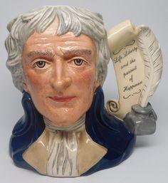 "Large Prototype Royal Doulton Character Jug ""Thomas Jefferson"" D6943 Toby Mug   eBay"
