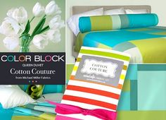 Tutorial: Color blocked duvet cover