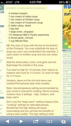 See related links to what you are looking for. Chicken And Rice Crockpot, Chicken Rice Recipes, Chicken Rice Casserole, Healthy Chicken Dinner, Cockpot Meals, Power Cooker Recipes, Easy Casserole Recipes, Crockpot Recipes, Crock Pot Cooking