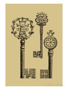 Antique Keys I Affiche sur AllPosters.fr