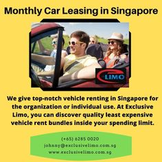 Searching car for the long term? Exclusive limo is the best way for Monthly Car Leasing in Singapore. Nothing best than having a monthly car leasing with comfort. Contact us for more information.
