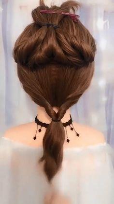 Hairdo For Long Hair, Easy Hairstyles For Long Hair, Pretty Hairstyles, Medium Hair Styles, Curly Hair Styles, Work Hairstyles, Hairdos, Hair Affair, Hair Videos