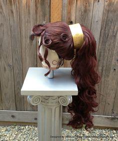 Megara Hercules Massive Wig Grecian Princess Quality Custom Couture Styled