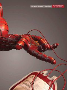 """""""You can be someone's superhero!"""" Blood donation poster"""