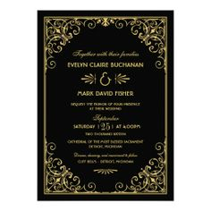 Wedding Invitations | Art Deco Style.....Love these!!