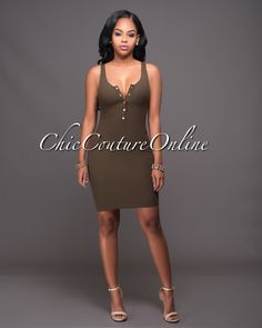 Chic Couture Online - Tonia Olive Green Ribbed Mini Dress.(http://www.chiccoutureonline.com/tonia-olive-green-ribbed-mini-dress/)