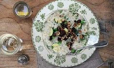 Dairy-free celeriac risotto with roasted hazelnuts and veg | Just as tasty