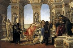 Calumny of Apelles by BOTTICELLI, Sandro #art