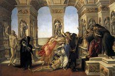 Calumny of Apelles by BOTTICELLI, Sandro #art