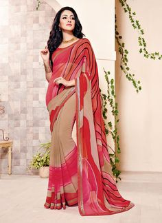 Grab the second look in this elegant attire for this season. Spread the aura of freshness with this multi colour georgette casual saree showing a touch of sensuality. The brilliant attire creates a dr...