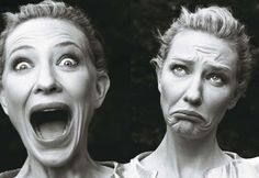"""""""Women: New Portraits"""" series photos by Annie Leibovitz Cate Blanchett Cate Blanchett, Annie Leibovitz Photography, Foto Portrait, Susan Sontag, Shooting Photo, Face Expressions, Two Faces, Foto Art, George Clooney"""