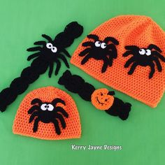 New! Halloween Crochet Pattern! 4 patterns in 1 ! Comes in 9 sizes from Newborn to Adult!