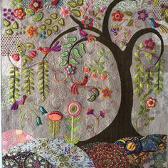 Quilted Connection - Enchantment quilt - Kerry Green made this beautiful piece. It is a work of art!