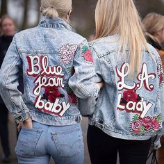 Embroidered jackets for BFF