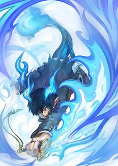 Rin Okumura of the Blue Fire. Blue Exorcist art.