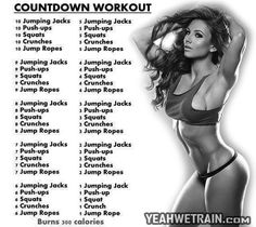 Countdown Workout - Sexy Body Fitness Healthy Sixpack Abs Butt - PROJECT NEXT - Bodybuilding & Fitness Motivation + Inspiration (ways to reduce weight) Fitness Diet, Fitness Motivation, Health Fitness, Body Fitness, Workout Fitness, Mens Fitness, Countdown Workout, Bodybuilding Workouts, Fitness Inspiration