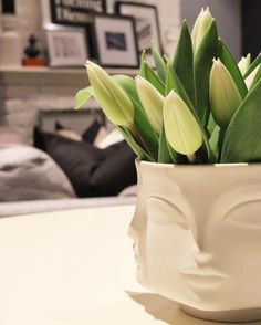 Jonathan Adler muse candle holder used as a vase