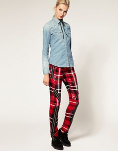 ASOS - Ashish - Pantalon skinny à carreaux en sequins - 905£ !! but WOW !!!!