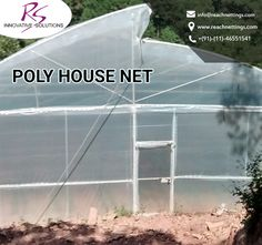 We offer best quality #PolyHouse #Nets with the variety of ventilated climate controll.