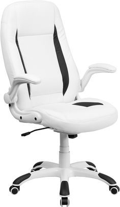 leather office chair amazon. High Back White Leather Executive Office Chair With Flip-Up Arms, CH-CX0176H06-WH-GG By Flash Furniture | BizChair.com Amazon R
