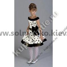 Нарядное платье для девочки Стиляги Горох - Бант 3