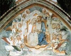 """""""Maestro trecentesco"""" del Sacro Speco, Affresco nella Cappella della Madonna, Sacro Speco, Subiaco."""