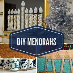10 Easy DIY Menorah Ideas >> http://www.diynetwork.com/how-to/make-and-decorate/crafts/2015-pictures/10-totally-fun-diy-menorahs?soc=pinterest
