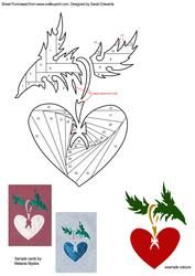 Heart-shaped Christmas Decoration Iris Folding Pattern