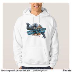 "Thor: Ragnarok | Korg ""See You Later New Doug"" Hoodie. Must have awesome Marvel items. #thor #marvel #marvelcomics #comics #personalize #giftideas #shopping Funny Hoodies, Men's Hoodies, Grill Logo, Fashion Graphic, Fashion Design, Superhero Design, Black Hoodie, Mens Fashion, Trendy Fashion"