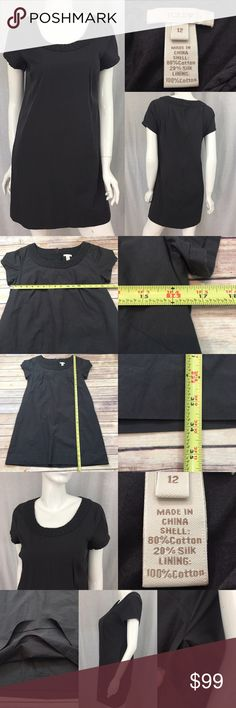 💫Size 12 J. Crew Gray A-line Short Sleeve Dress Measurements are in photos. Normal wash wear, no flaws. E1 **HAS POCKETS I do not comment to my buyers after purchases, do to their privacy. If you would like any reassurance after your purchase that I did receive your order, please feel free to comment on the listing and I will promptly respond. I ship everyday and I always package safely. Thanks! J. Crew Dresses Mini