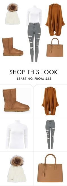 """Untitled #48"" by anelaa1923 ❤ liked on Polyvore featuring UGG, Michael Kors, Topshop and Prada"