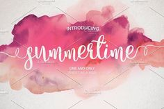 Summertime - Free Font of The Week was our Free Premium Font Of The Week. Our Free Font Of The Week is available each week exclusively from Font Bundles. Grab your free fonts for a limited time only Handwritten Fonts, Calligraphy Fonts, Script Fonts, All Fonts, Modern Calligraphy, Beach Fonts, Valentine Day Cards, Valentines, Web Design
