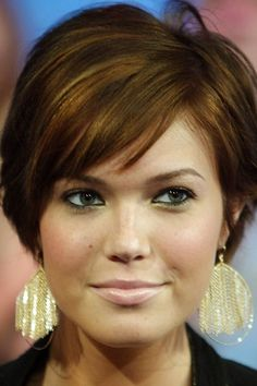 Mandy Moore Hairstyles - Cute cut but may be too poofy on the crown and not a huge fan of the bangs