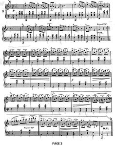 Page 3 of the Alexandroffsky Waltz, composed by Bihahc in 1875 and available from the National Archives.