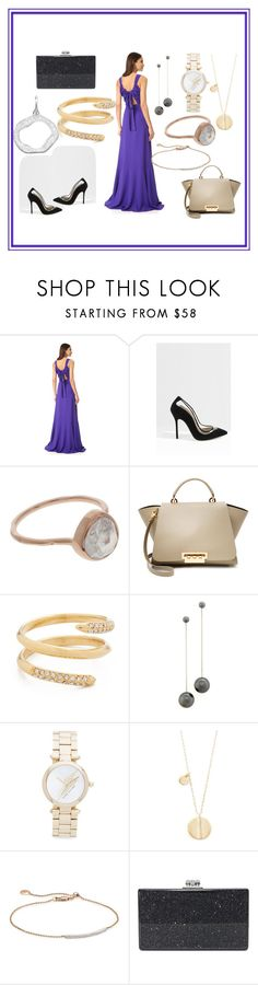 """Bold Party Attire"" by paige-brrian ❤ liked on Polyvore featuring Rochas, Giannico, Monica Vinader, ZAC Zac Posen, Rebecca Minkoff, Salvatore Ferragamo, Marc Jacobs, Elizabeth and James and Edie Parker"