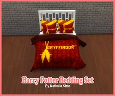 Sims 4 CC's - The Best: Harry Potter Bedding Set by Nathys Sims