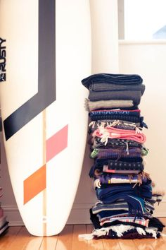 stacks and surfboards
