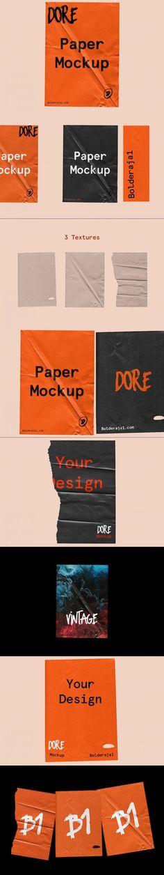 Dore - Wrinkle paper mockup #minimal #TemplateDesign #smart #up #greetinginvitation #zipper #blk #MockupTemplate #editableprintable #vintage #template #blackmarket #edgecolor #templates #texture #wrinkles #scene #bottle #computer