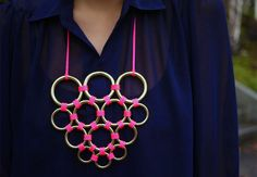 DIY Gretchen Jones Necklace.   http://honestlywtf.com/diy/diy-gretchen-jones-necklace-giveaway/#