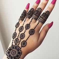 Explore latest Mehndi Designs images in 2019 on Happy Shappy. Mehendi design is also known as the heena design or henna patterns worldwide. We are here with the best mehndi designs images from worldwide. Henna Hand Designs, Eid Mehndi Designs, Rajasthani Mehndi Designs, Mehndi Designs Finger, Mehndi Designs For Beginners, Modern Mehndi Designs, Mehndi Design Pictures, Mehndi Designs For Girls, Mehndi Designs For Fingers