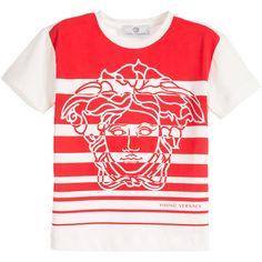 Medusa Boys Striped T-shirt Red and White at PureAtlanta.com