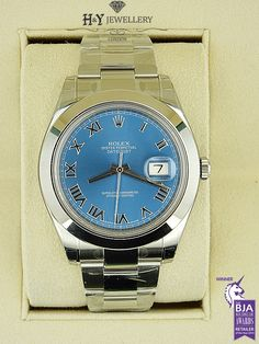 Rolex DateJust II Blue Dial Steel - ref 116300